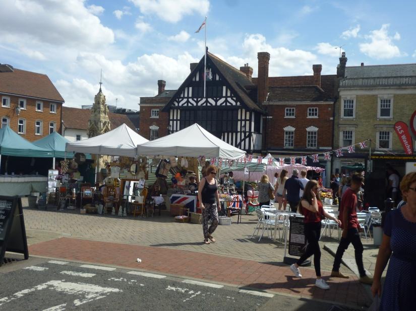 Saffron Walden market and town hall