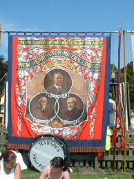 Banner at Miner's Gala, Durham