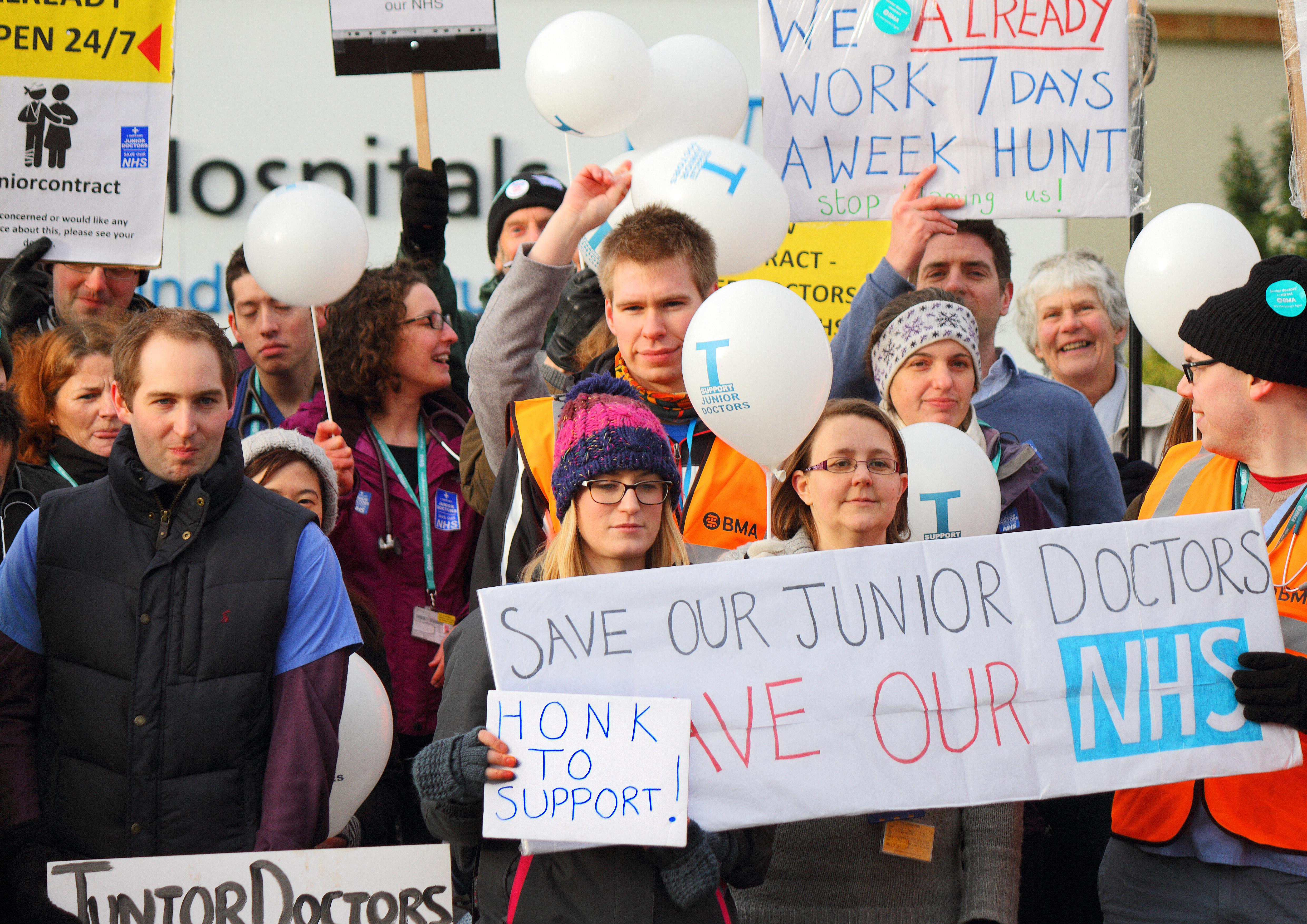 Recent junior doctors' strike