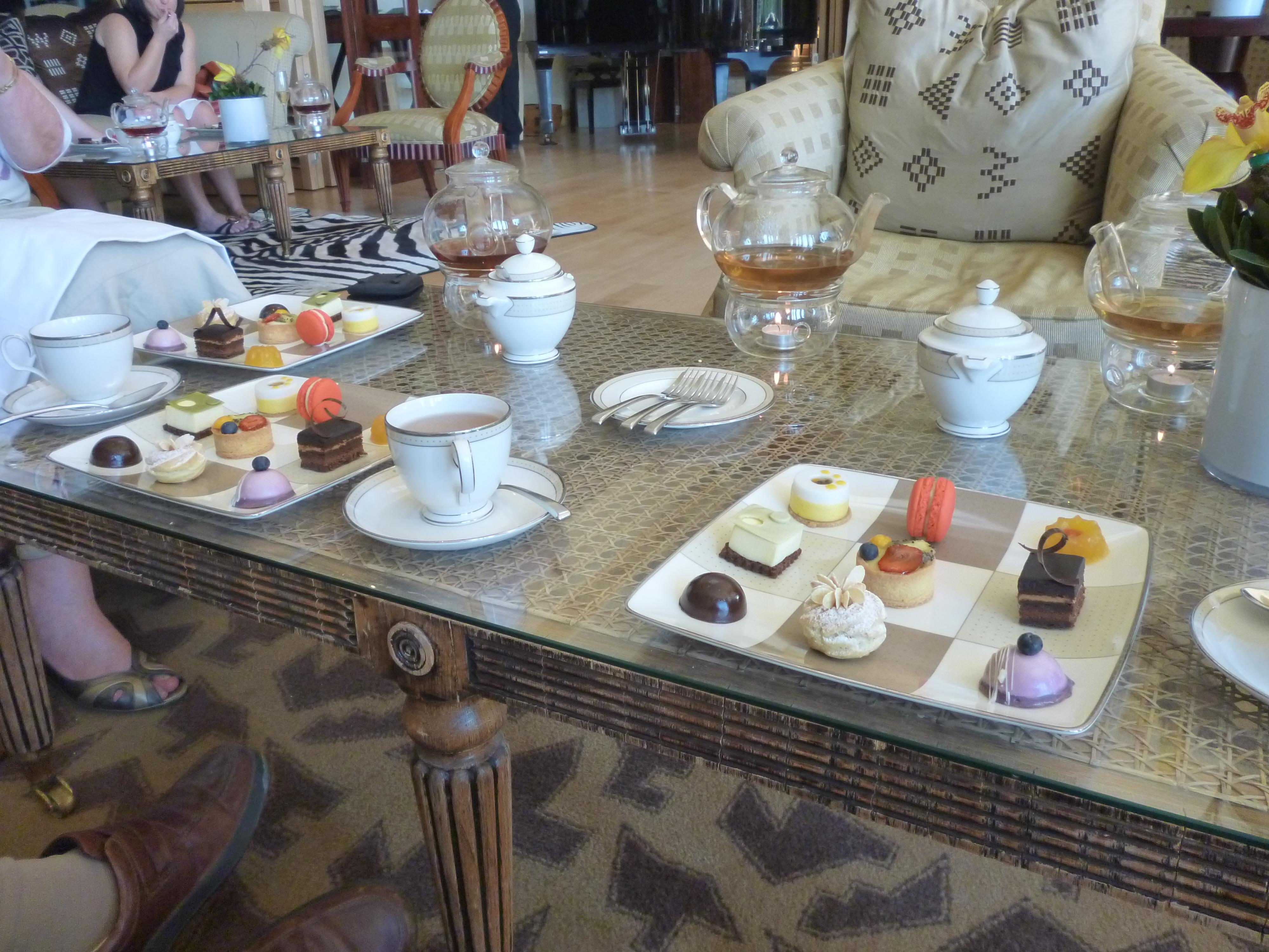 Afternoon tea at the Saxon, Johannesburg