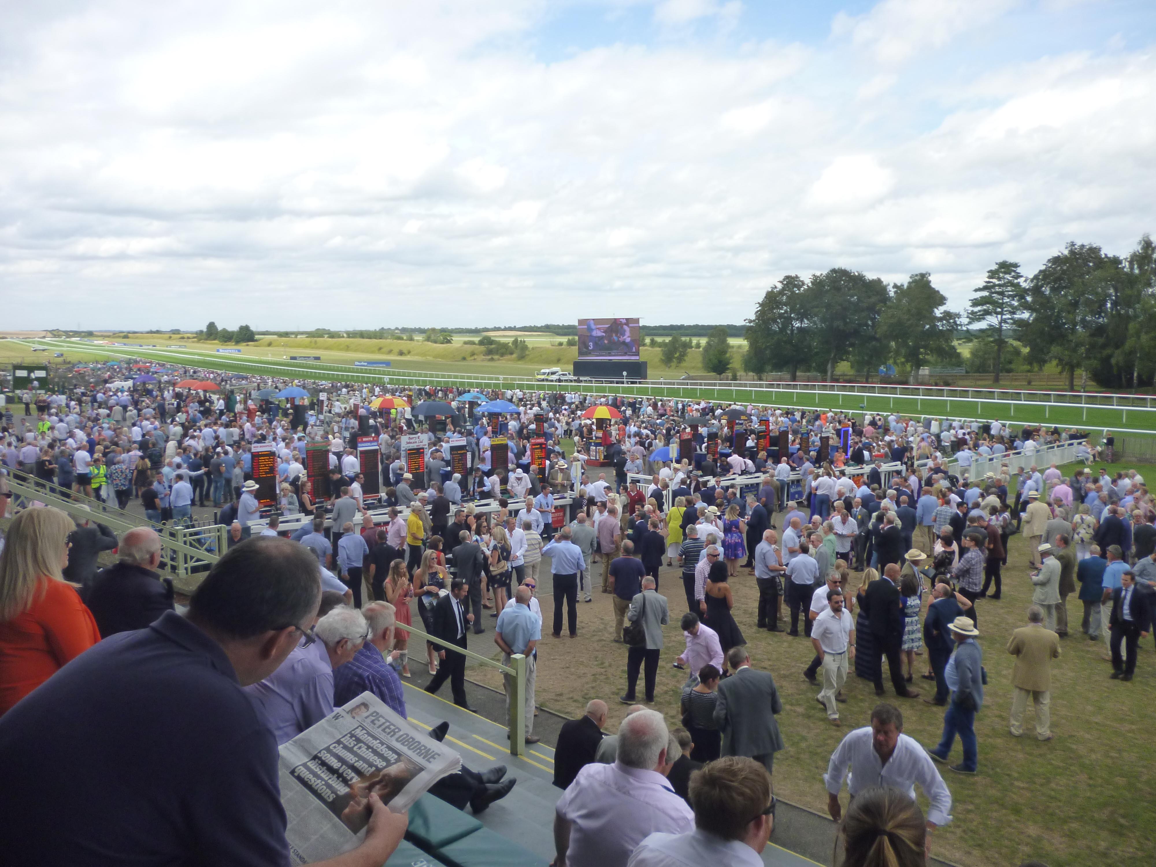 Newmarket's July race course